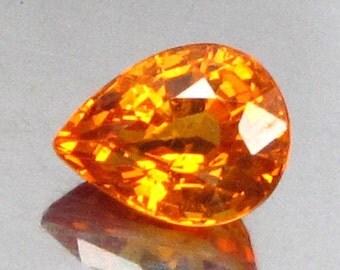 0.81 Ct  Natural Garnet Spessartine Reddish Orange Unheated