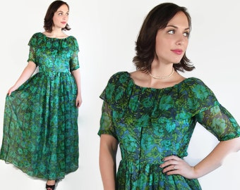 60s Bonnie Cashin Dress, Vintage Wedding, Blue Green, Designer Dress
