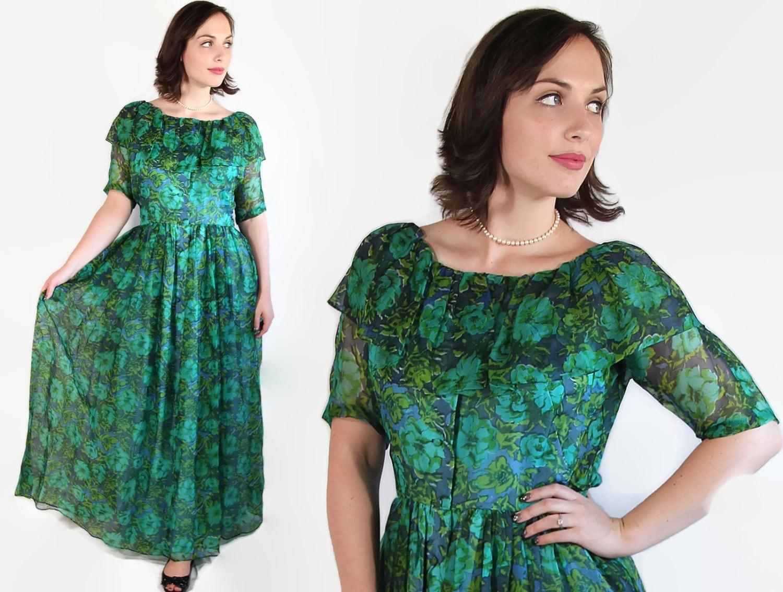 60s bonnie cashin dress vintage wedding blue green designer