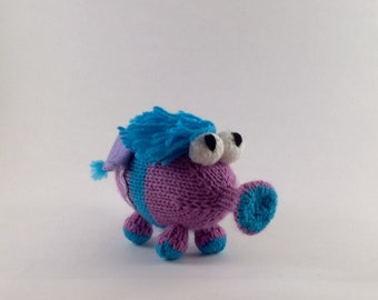 Purple Snufflelump!!  Knitted Plush toy- Animal / Alien / Monster