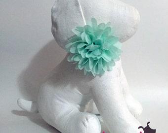 Mint Green Chiffon Flower Collar Accessory