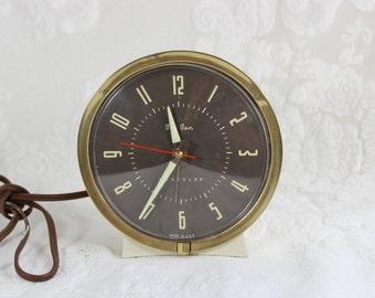 Retro Big Ben Alarm Clock- Vintage Westclox electric clock with glow in the dark hands- works!