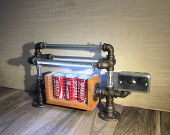 Coca Cola Lights 20W, Industrial Coca Cola Table Lamp - Modern LED Lamp