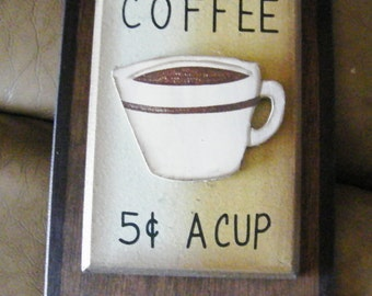 Country Primitive Kitchen 3d Coffee wooden wall art decor plaque sign