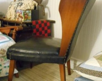 mid century modern traditional wingback chair