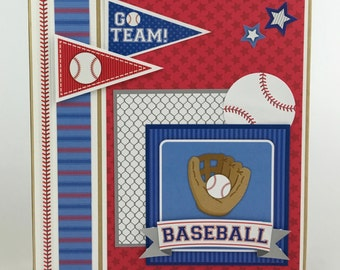 Baseball Scrapbook Mini Album Kit or Premade Teeball Sports Coach Gift