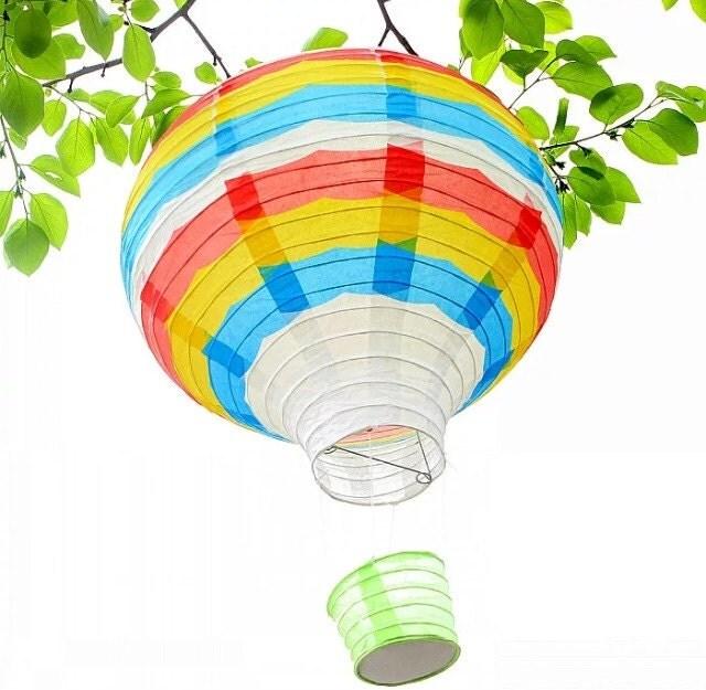 Hot Air Balloon Hot Air Balloons Decorations Colourful Paper