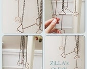 Single Handmade Copper Arrow Chain Layering Statement Necklace Jewelry by ZILLAS QUEEN