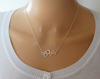 Silver Bubbles Necklace - Sterling Silver