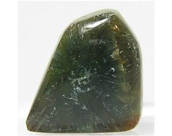 Rare Green Wavellite Miniature Semiprecious Stone Flat Back Cabochon