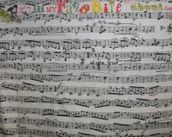 Love Notes,Andover Cotton Fabric, 1 Yard, Music Notes