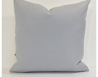 Grey Cotton Fabric Cushion Cover 16 x 16 Throw Pillow Cover