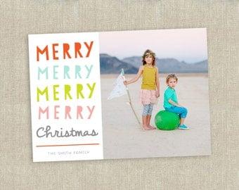 Christmas photo card - printable holiday card