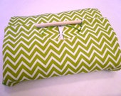 Mini Chevron 9x13 Dish Tote with FREE Recipe - Green and White ZigZag Stripe, Can be Personalized Apple Green, Lime Green, Free Shipping