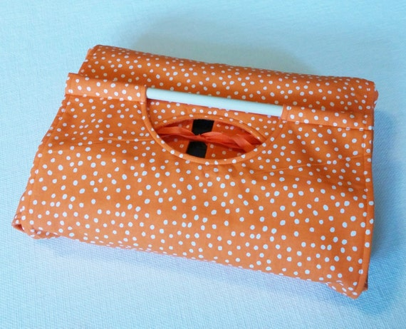 Orange Dot 9x13 Dish Tote with Optional Embroidery - FREE Shipping, Made in USA