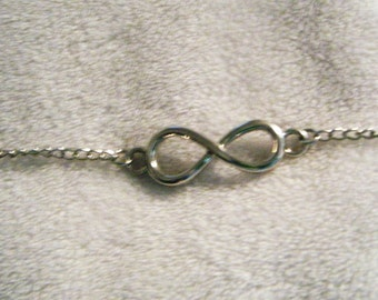 Silver Infinity bracelet, FREE SHIPPING