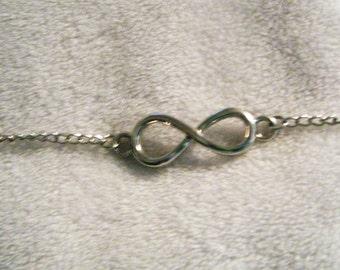 Silver Infinity bracelet, FREE SHIPPING