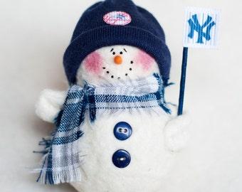 New York Yankees Snowman Ornament