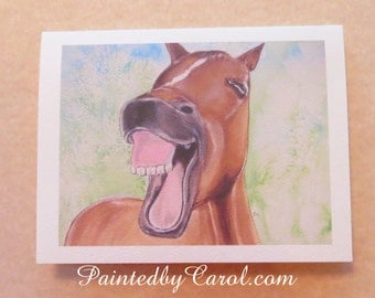 Horse Birthday Card, Birthday Card with Horse, Funny Birthday Card, Getting Older Card, Card for Getting Older, Humorous Birthday Card