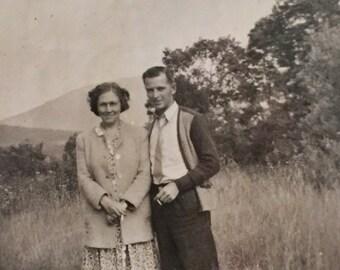 Original Antique Photograph Dreamy Duo