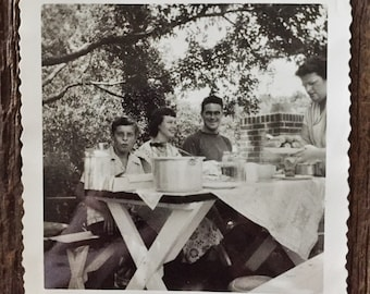 Original Vintage Photograph Summer Picnics