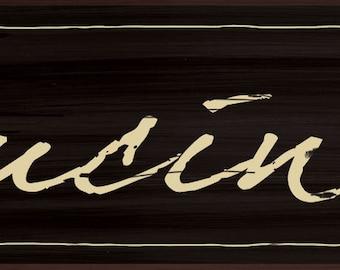 Cucina Wall sign,Italian Kitchen wall decor, Italian Kitchen, Rustic cucina sign, Rustic Italian Decor