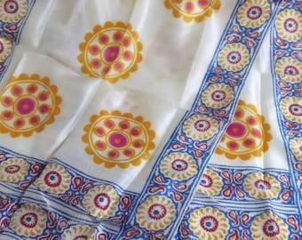 Vintage Womens Ladies Silk Long Scarf