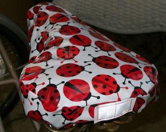 Ladybugs Bicycle Seat Cover - Weatherproof