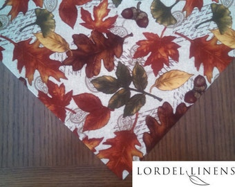 Autumn Leaves Table Runner, Fall Home Decor, Fall Leaves, Table Linens, Small Fall Table Runner