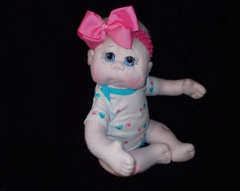"""USA Made Soft Cloth Doll,  20"""" Soft Baby Doll, MADE to ORDER"""
