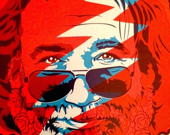 Jerry Garcia Digital Art Print