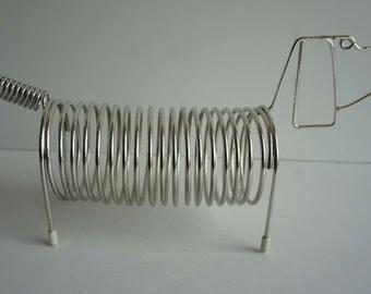 Mid Century Wire Letter Holder Dachshund Dog