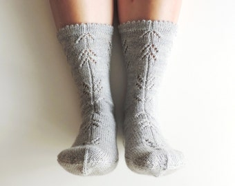 Sample sale!! READY to SHIP. EUR 38. Hand knit socks geometric pattern. Autumn accessories. Christmas gift. House bed socks. Gift for her