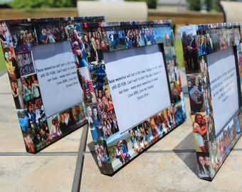 """Graduation Gift, Unique Graduation Gift, Senior Gift, Custom Collage Picture Frame, Personalized Frame 5"""" x 7"""""""
