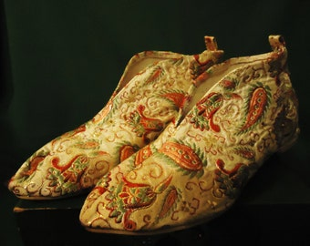 Vintage Paisley Colored House Shoes
