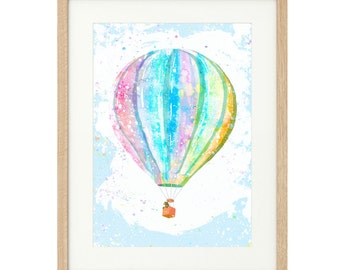 Elwood's Adventure - Hot Air Balloon - Extra Large - Limited Edition Print