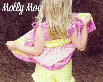 Pink Lemonade gingham ruffle shorts size 6-12 months to girls size 12