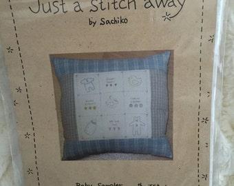Baby Sampler Stitcheries Stitchery Pattern UC FF Uncut Pillow Picture by Just a Stitch Away