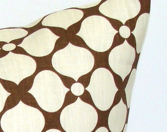 PILLOW.BROWN PILLOW.12x20, 16x20 or 16x24 inch.Pillow.Brown Cream.Cushion.Cm.Floral.Brown.Chocolate Brown.cm.Decorative Pillow.Housewares.cm