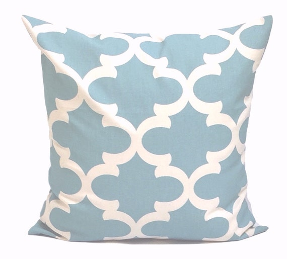 Blue Throw Pillow Decorative Pillow Spa Blue Pillow Pillow