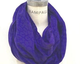 handmade Purple  Infinify Scarf scarfs, gift for Women, womens Scarves, loop infinity scarf,winter scarf - by PiYOYO