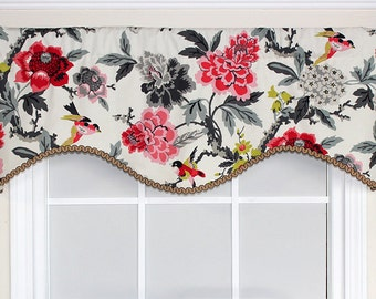 Fancy flight shaped valance with or without gimp trim