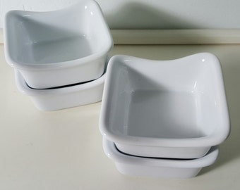 Rachael Ray Small White Stoneware Baking Set~Four Pieces~