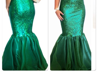 MARIELA- mermaid tail only, mermaid tail costume, walkable mermaid tail, ariel costume, mermaids, The Little