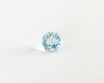 Natural Blue Aquamarine, Unheated, Round Cut, 1.68 carat