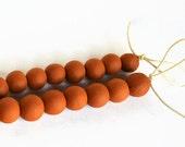 African beads, handmade ceramic beads, terracotta clay beads, artisan beads, unglazed terracotta beads