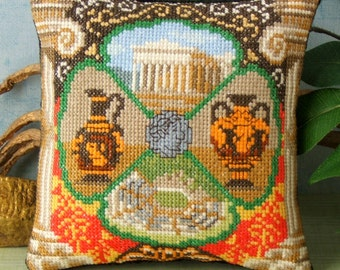 Ancient Greece Mini Cushion Cross Stitch Kit