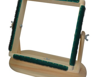 "12"" x 12"" Rug Hooking Lap Frame - Portable, Folding, Affordable!"