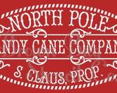 Christmas Stencil - North Pole Candy Cane Company 20x10 -  Christmas Stencil