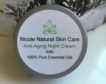 Anti-Aging Night Cream - Luxurious Rich Creamy Face Moisturizer with 100% Pure Essential Oils